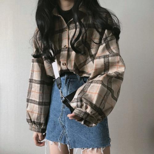 【即日発送】ルーズシルエット チェックシャツ 2カラー ts4106