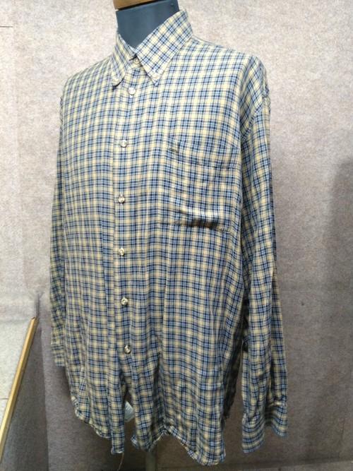 ダンヒル dunhill イタリア製 コットン チェックシャツ L mu638e