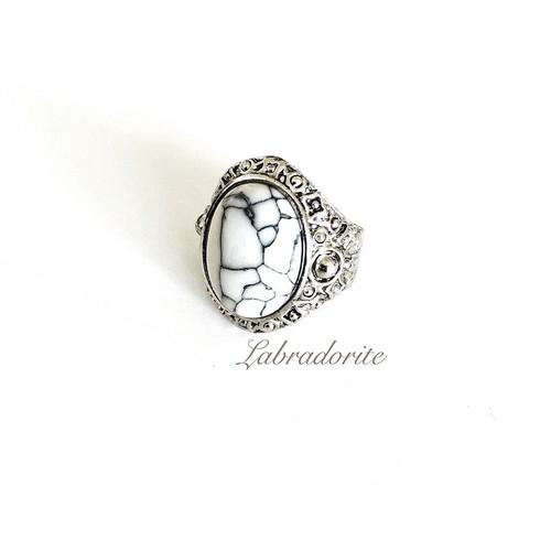 Turquoise white ring
