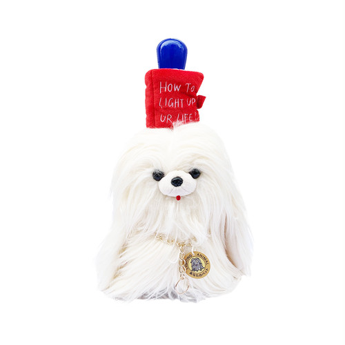 "BY FEELING  ""LONG HAIR DOG LAMP"" -Red-"