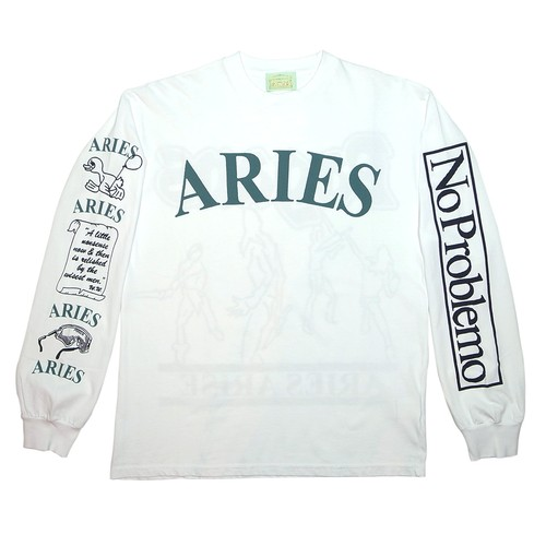 Aries Warriors LS Tee White