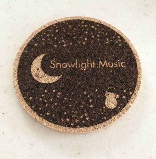 【コースター 丸型】【月と雪だるま】