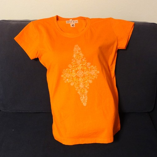 【海外土産】ビーズTシャツ14オレンジ(タイ)