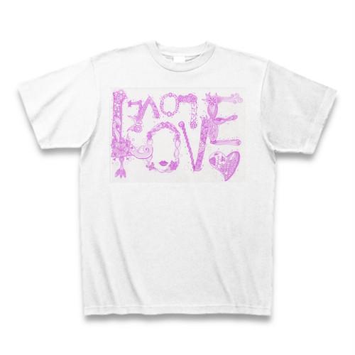 【Tシャツ】白色「LOVE LOVE LOVE」