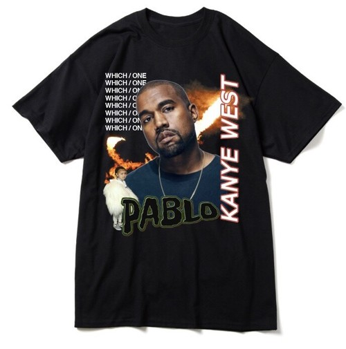"BOOTLEG RAP T-Shirts ""KANYE WEST"" BLACK"