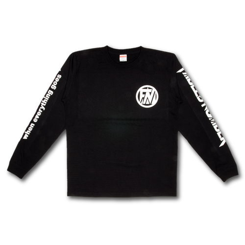 LONG SLEEVE T-shirts[黒×白]
