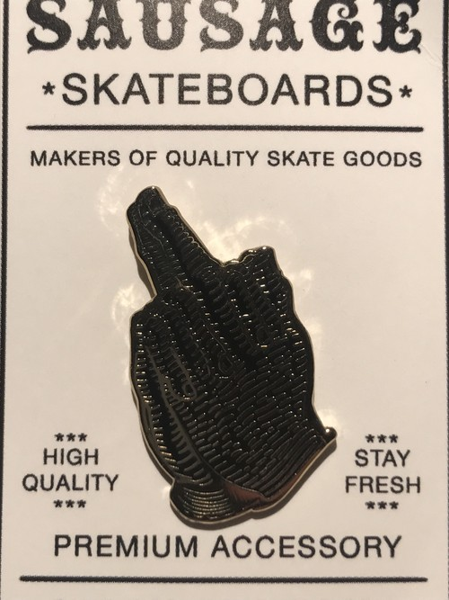 "SAUGE SKATEBORDS""Black And Gold Praying Finger"""