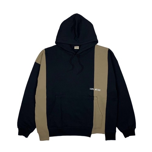 MFC STORE x Goodwear SWITCHING HOODED / BLACK x BEIGE