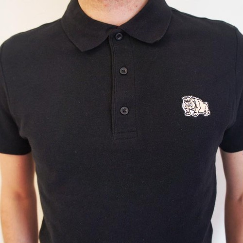 BULLDOG POLO SHIRT BLACK