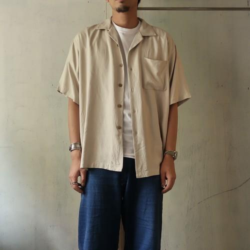 open collar silk shirt