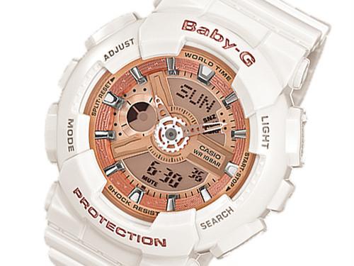 カシオ CASIO ベビーG BABY-G レディース 腕時計 BA-110-7A1JF 国内正規 ピンクゴールド