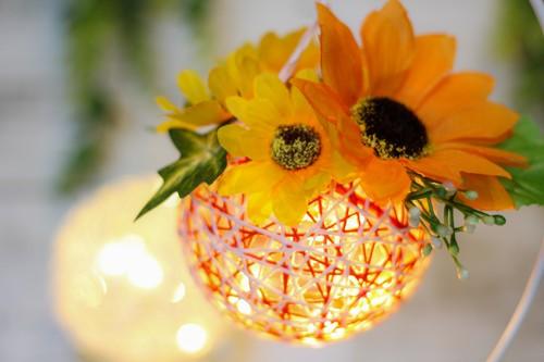 【小田急ファミリースマイルデーオンライン特別企画】向日葵のフラワーランタンの手作りキット(オレンジ)