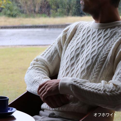 アラン柄セーター