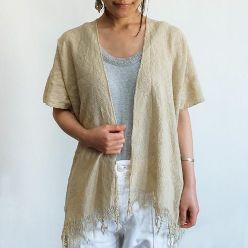 ピクビル織りのカーディガン / Plant-dyed / GUATEMALA グアテマラ