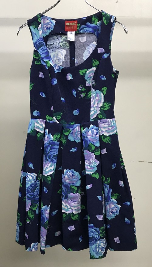 1990s KENZO JUNGLE FLOWER PLEATED DRESS
