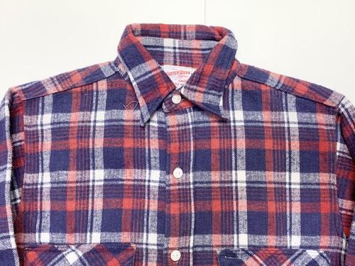 40s 50s WINTER WEAR ウインターウェアー マチ付き フランネルシャツ ネルシャツ ビンテージ