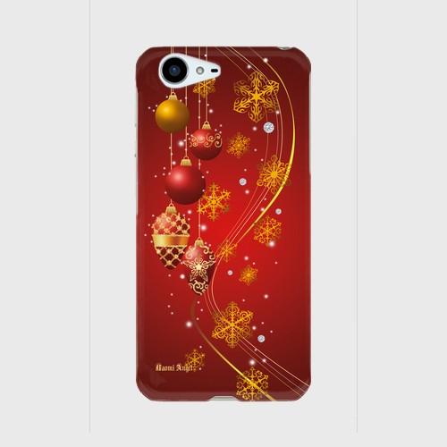 【AQUOS PHONE ZETA (SH-04H)】Winter Holiday Gorgeous Red ウィンター・ホリデー ゴージャスレッド ツヤありハード型スマホケース