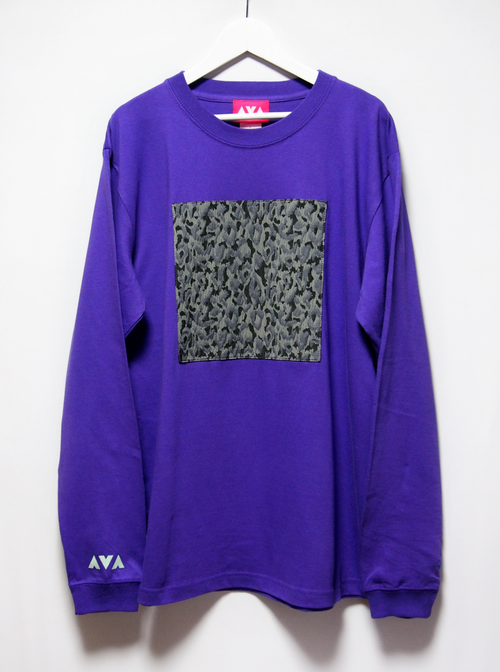 square patch long sleeve Tee