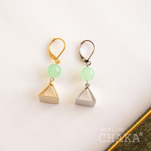MONIR/ピラミッドピアス/5月 グリーンジェード