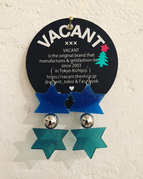 Explosion pierced earrings_BLUE