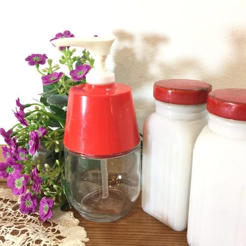 ガラス瓶のポンプボトル キッチン雑貨  BAKAN PLASTICS GLASS cenco USA