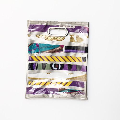 【一点もの】No.309   スカーフで作ったPVCクラッチバッグ