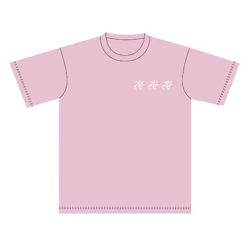 akuma  Tシャツ ピンク×白