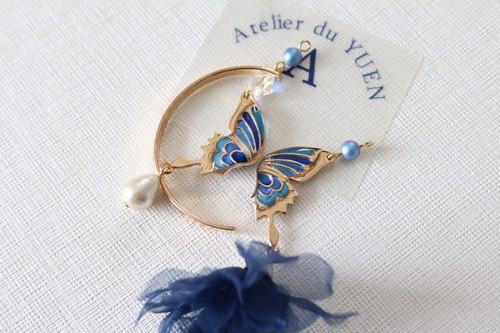 ⌘三日月蝶⌘耳飾り