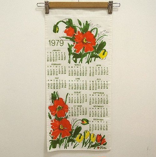 1979 Kitchen Towel Calendar