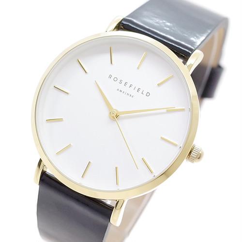 ローズフィールド ROSEFIELD 腕時計 レディース SHBWG-H38 THE PREMIUM GLOSS クォーツ ホワイト ブラック