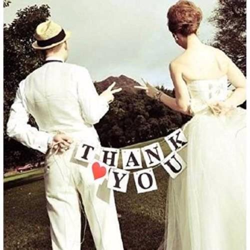 【即納】☆THANK YOU+ハートのガーランド/結婚式に K017