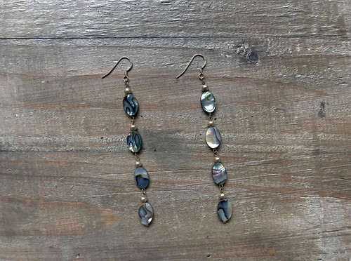 【14kgf】Abalone shell earrings