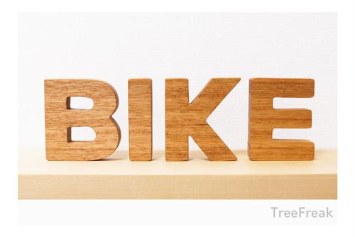 BIKE バイクの切り文字 インテリア(ピスト トラックバイク)