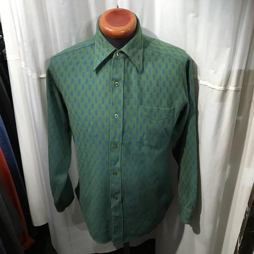 70's vintage Pendleton ペンドルトン 総柄ウールシャツ レアパターン メンズM