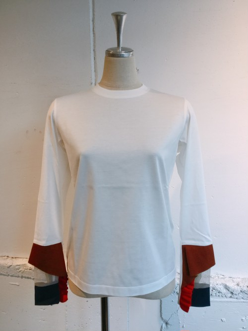 NAIFE Cuff long T-shirts (White)