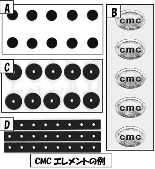 電磁波(マイクロ波&低周波)防止用 強力タイプ『CMCエレメント』C / 三層,φ15mm,円形