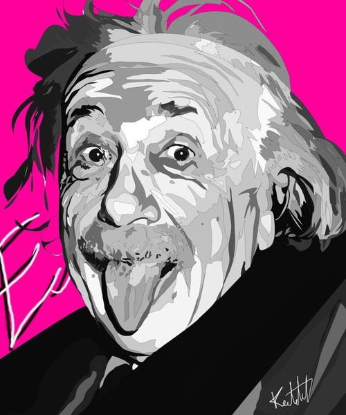 アインシュタイン ポップアートパネル