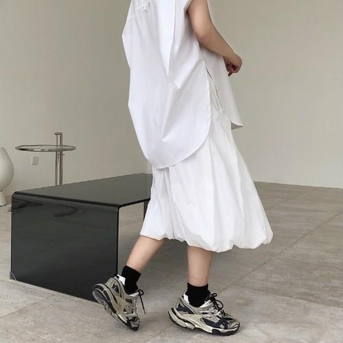 2色/クラウドプリーツバルーンスカート ・2069