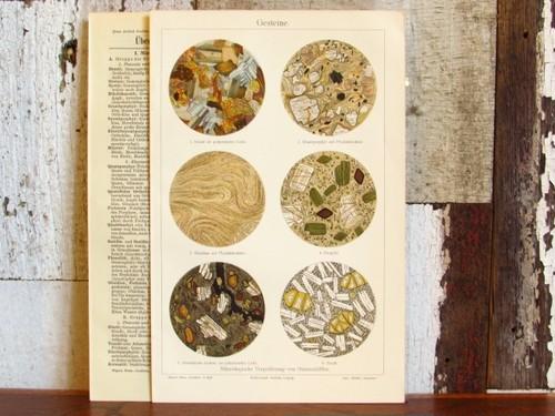 リトグラフ/鉱物・岩石(花崗岩・玄武岩など)