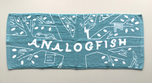 Analogfish x stomachache.『Fishy Tree Towel』