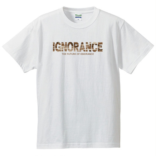 IGNORANCE LOGO(CAMOUFLAGE) T-SHIRT【WHITE】