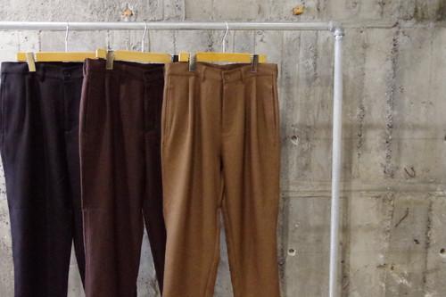 Design wide tapered slacks