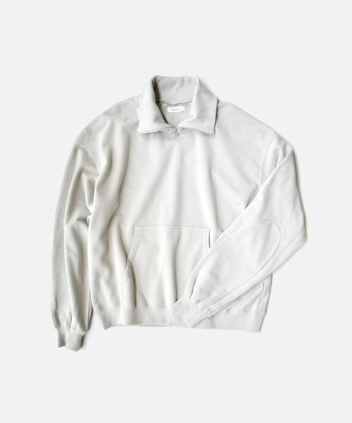 MATSUFUJI Ribbed Collar Sweat Shirt L.GRAY