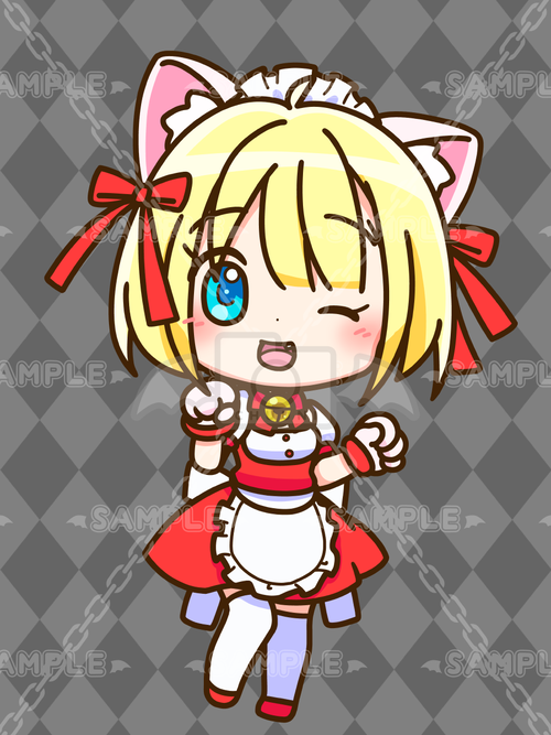 ふれんち猫メイドちゃん_金髪_赤_L