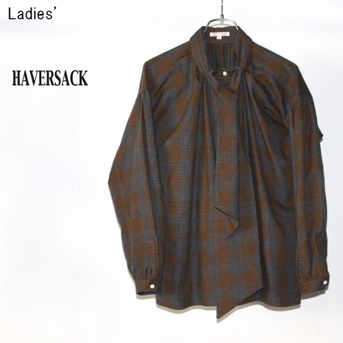 HAVERSACK ビエラチェックブラウス Viyella Check Blouse 321705 (Brown)