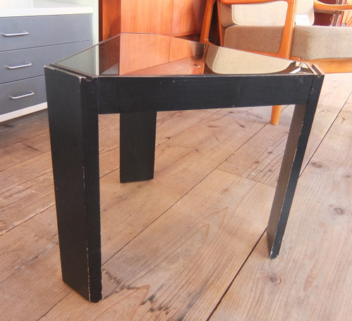 Glass Top Tri Side Table