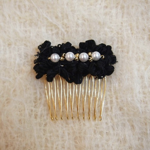 Ribbon Hairpin (BLACK)