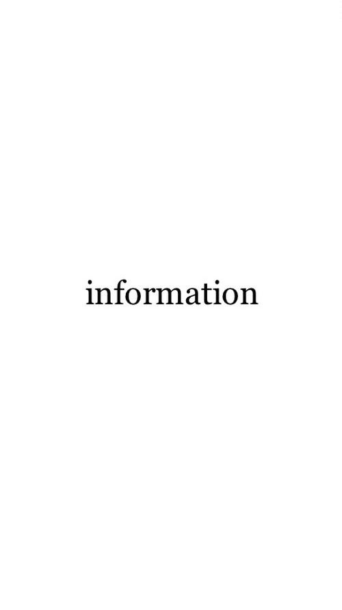 information  ご購入の前に必ずお読みください