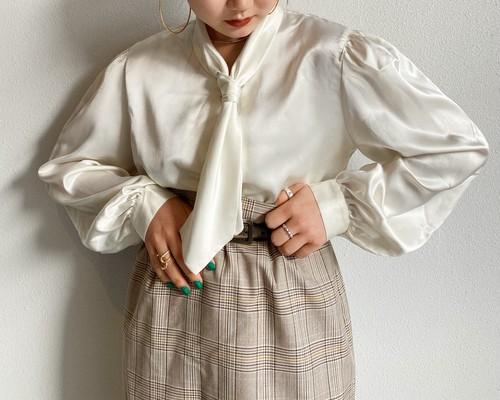 (PAL) grow bow tie blouse