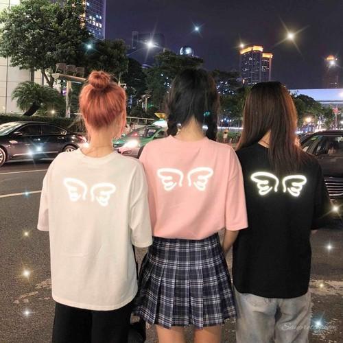 【トップス】スウィート春夏フルオレセンスプリント韓国風カジュアルラウンドネック半袖Tシャツ
